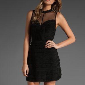 FREE PEOPLE Pleated Ruffle Dress Size 0